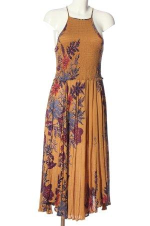 Free People Vestido de Verano naranja claro-lila estampado floral look casual