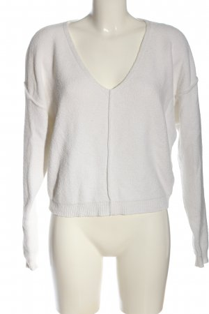 Free People V-Neck Sweater white casual look