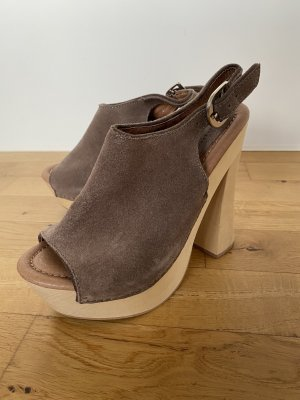Jeffrey Campbell for Free People Zoccolo marrone-grigio-crema