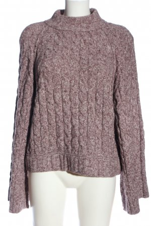 Free People Zopfpullover pink Zopfmuster Casual-Look