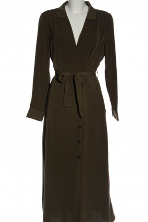 FREE / QUENT Koszulowa sukienka khaki Elegancki