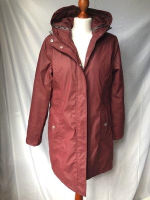 Freequent Manteau de pluie rouge foncé-rouge carmin