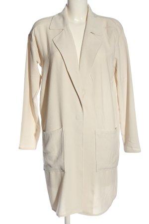FREE / QUENT Abrigo de entretiempo blanco puro look casual