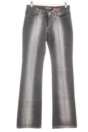 Free Soul Boot Cut Jeans hellgrau-dunkelgrau Logo-Applikation