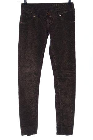 Free Soul Slim Jeans braun meliert Glanz-Optik