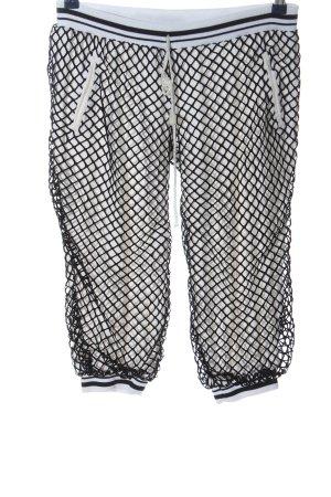 free style 3/4-broek wit-zwart Webpatroon casual uitstraling