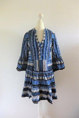 Freebird Boho Sommer Kleid Naomi Blue schwarz blau weiß Gr. XS 34/36