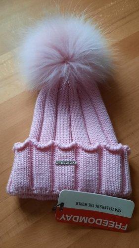 Freedomday Chapeau en tricot rose