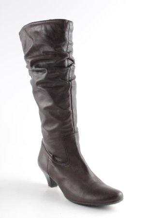 Freeflex Absatz Stiefel dunkelbraun schlichter Stil