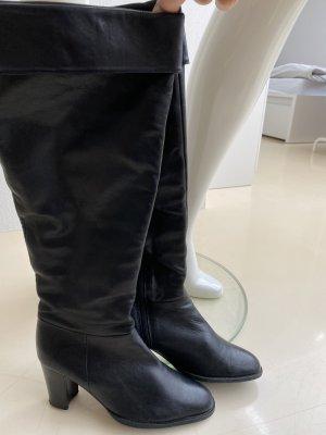 Freeflex Overknees black imitation leather