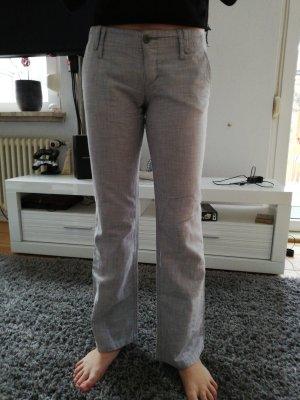 Freeman t. porter Pantalon en lin doré-gris
