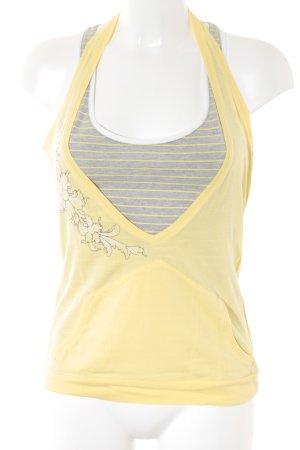 Freeman t. porter Basic Top grau-gelb Street-Fashion-Look