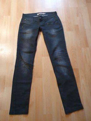 Freeman t. porter Jeans slim noir-gris anthracite