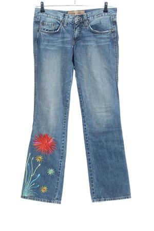 Freeman t. porter Jeans svasati blu motivo floreale stile casual