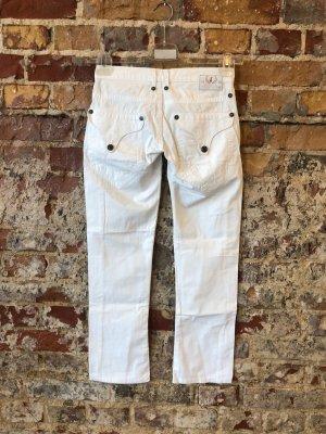FREEMAN T. PORTER F.T.P. Cropped Jeans weiß w25 XXS 32 max XS 34