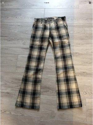 Freeman t. porter pantalón de cintura baja negro-blanco puro