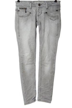 Freeman t. porter Jeans vita bassa grigio chiaro stile casual