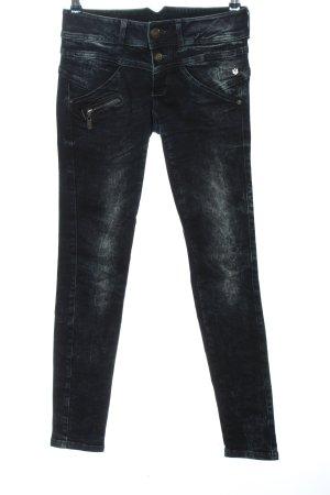 Freeman t. porter Jeans taille basse bleu style décontracté