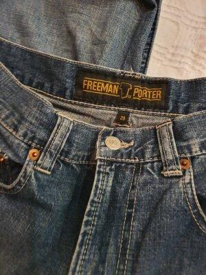 Freeman t. porter Pantalon cinq poches bleu