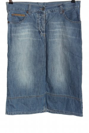 Freeman t. porter Gonna di jeans blu stile casual