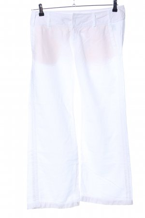 Freeman t. porter Pantalone di lino bianco stile casual