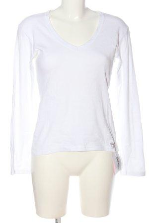 Freeman t. porter Top à manches longues blanc style décontracté