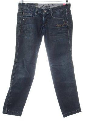 Freeman t. porter Jeans slim bleu lettrage brodé style décontracté