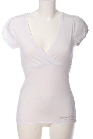 Freeman t. porter T-shirt bianco stile casual