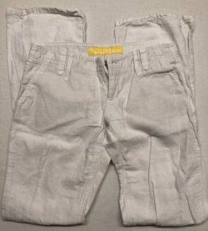 Freeman T Porter - Stoffhose Creme/Weiß Gr. 26 34/36