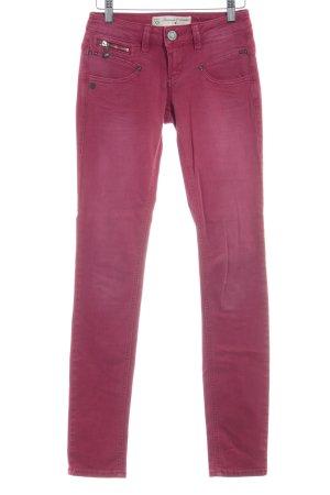 Freeman t. porter Pantalon en jersey rouge foncé style décontracté