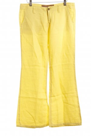 Freeman t. porter Pantalon en jersey jaune style décontracté
