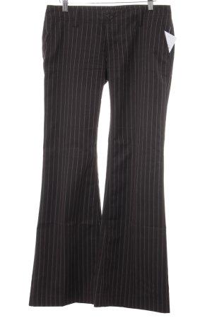 Freeman t. porter Stoffhose schwarzbraun-hellrot Streifenmuster Vintage-Look