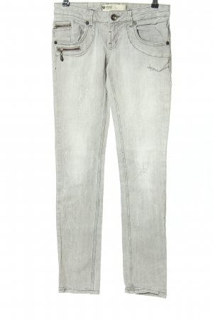 Freeman t. porter Straight-Leg Jeans hellgrau Street-Fashion-Look