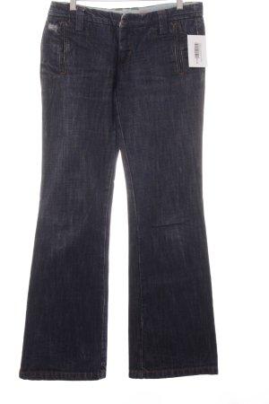 Freeman t. porter Jeans coupe-droite bleu foncé style décontracté