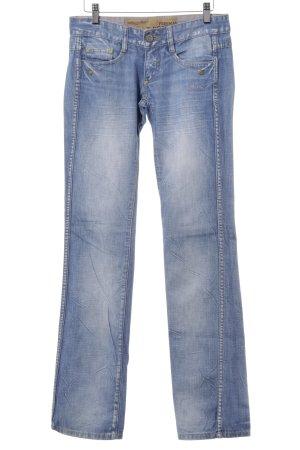 Freeman t. porter Straight-Leg Jeans hellblau-blau Casual-Look