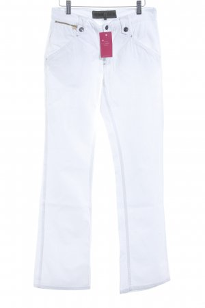 Freeman t. porter Jeans a gamba dritta bianco stile casual