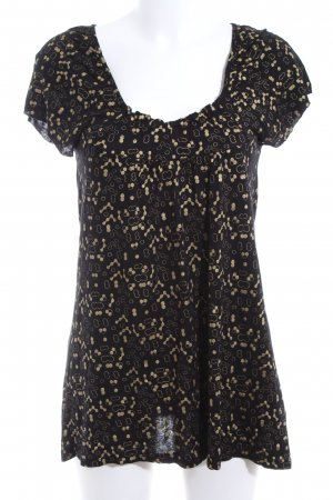 Freeman t. porter T-shirt nero-oro stampa integrale stile casual