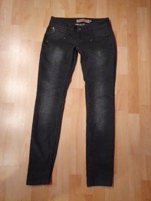 Freeman t. porter Jeans taille basse noir-gris foncé