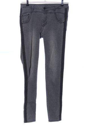 Freequent Stretch jeans lichtgrijs-zwart casual uitstraling