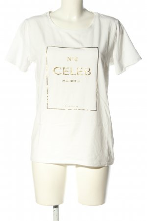 Freequent T-Shirt weiß Motivdruck Casual-Look