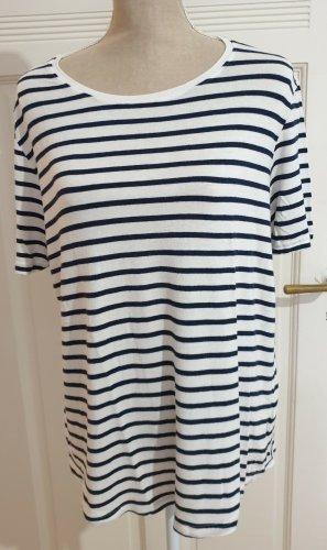Freequent Stripe Shirt white-dark blue