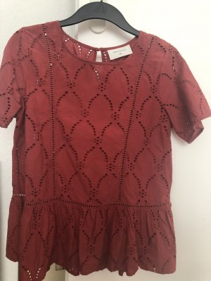 FREE / QUENT Frill Top dark red-bordeaux