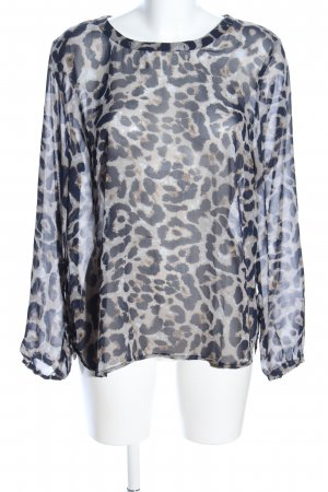 Freequent Transparenz-Bluse Animalmuster Casual-Look