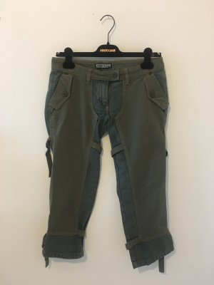 Freesoul 27 Capri Dreiviertel Stiefelhose Hose kurze Hose blau oliv Army Militär Khaki grün lässig cool