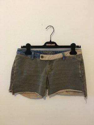 Freesoul 28 colored Denim Jeans Shorts oliv Khaki grün Sand beige blau hot pants kurze Hose Sommer