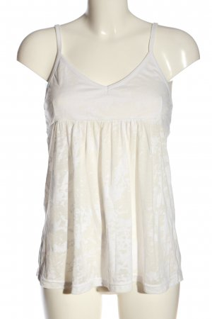 Freesoul Camisole blanc-blanc cassé motif abstrait style décontracté