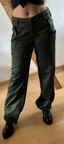 Freesoul Pantalon «Baggy» gris vert-vert foncé coton