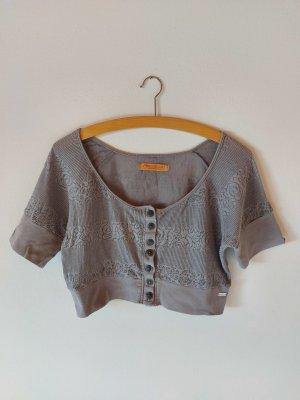 Freesoul Camisa recortada gris