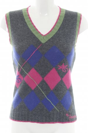 Freesoul Feinstrickpullunder grafisches Muster Casual-Look