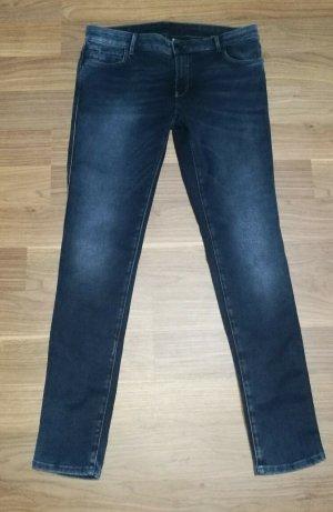 Freesoul Jeans skinny bleu-bleu foncé coton